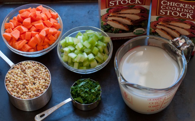 ingredients for weeknight chicken soup