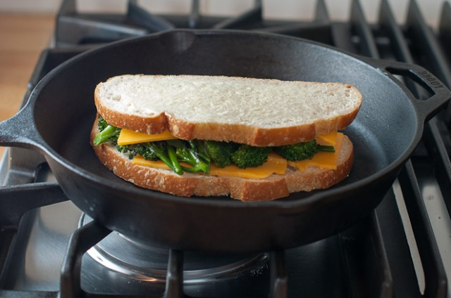 grilling the grilled cheese