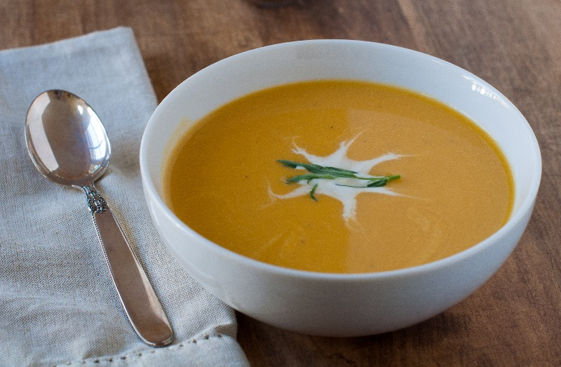 Rustic Bakery's butternut squash soup