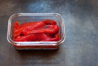 peeled and roasted red peppers