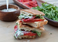 roasted red pepper panini with cilantro-lime mayo