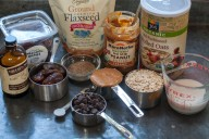 ingredients for guilt-free dark chocolate chip cookies